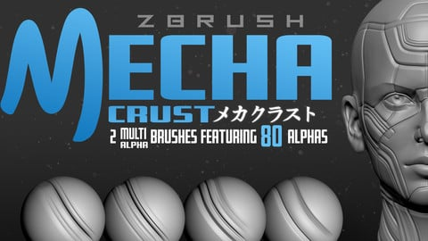 MechaCrust: Zbrush Panel Line Brushes