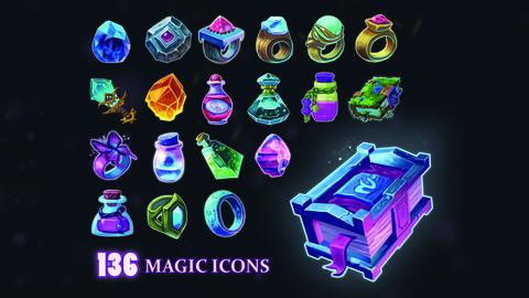 Stylized Magic Icons Pack