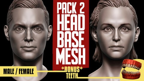 Basemesh Head Pack of 2