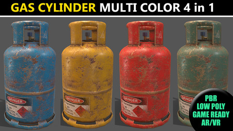 PBR Cooking Gas Cylinder - Multi color Pack