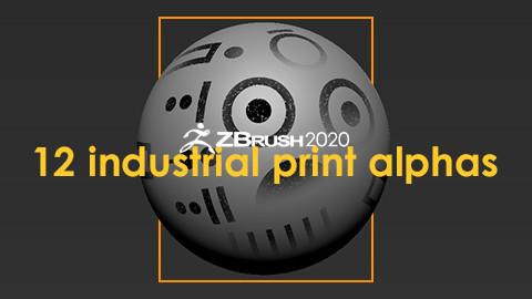 12 Industrial Print Alphas + 5 Bonus Paint Alphas