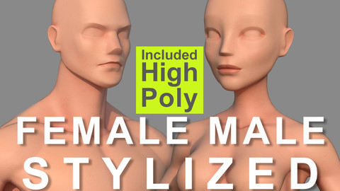 Male Female Body Base Stylized