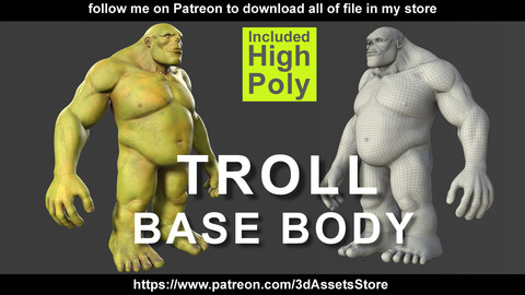 Character Troll Body Base