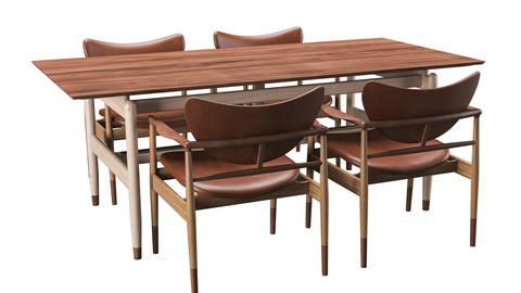 48 Chair & Kuafmann Table