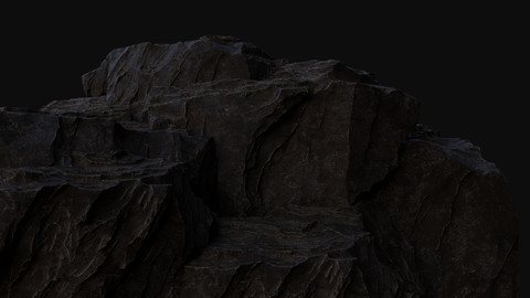 Rock Cliff Assembly Asset for Concept Art
