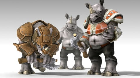 Animated Rhino Unit Character