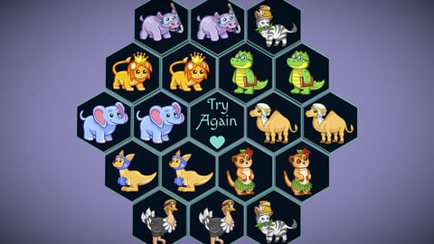 Perfect Hexagon Memory Game for Kids