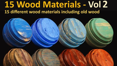 15 Wood Materials - Vol 2