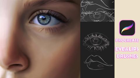 Eye & Lip Brushes for Procreate