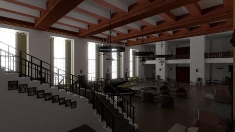 Hotel Lounge 3D model