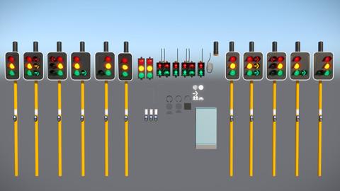 200mm LED Traffic Lanterns / Traffic Lights