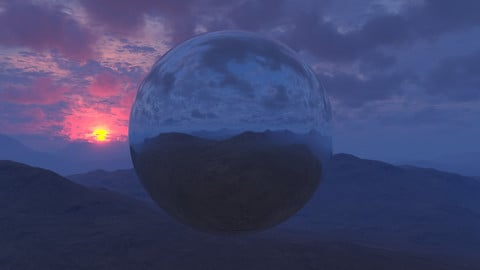 Purple Mountain Sunset HDRI