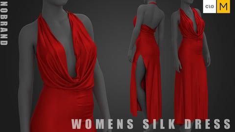 Womens - Red Silk Dress
