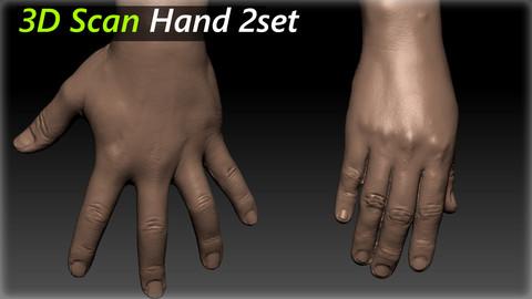 3D Scan Hand Modeling_ 2set
