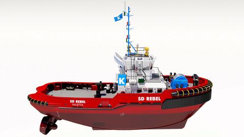 Tugboat ASD 2810 red