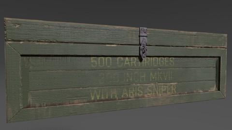 Military box  lowpoly model