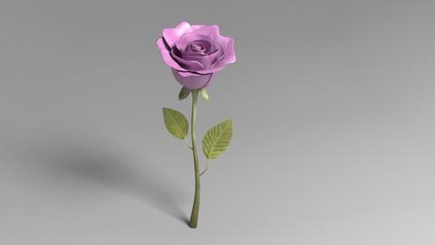 Cartoony Pink Fragrant Flower