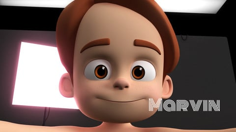 Marvin Stylised Boy Cartoon Character