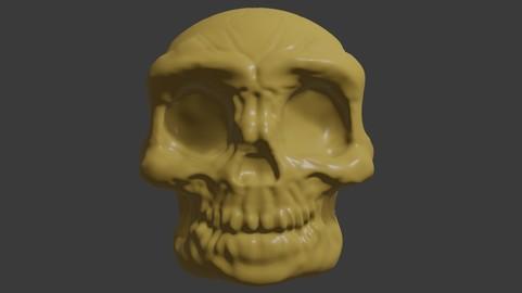 Skull Head for 3d Print - Caveira 3D print model