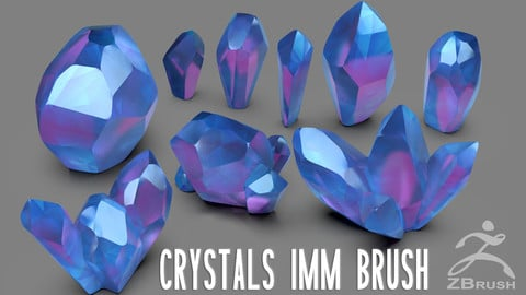 ZBrush - Crystals IMM Brush