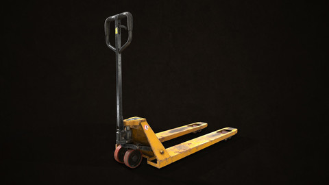 Hand Pallet Truck - Low Poly