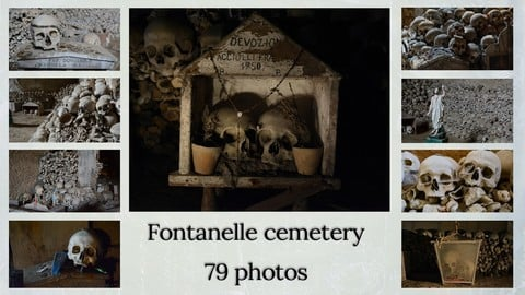 Skulls | Fontanelle cemetery | Reference pack