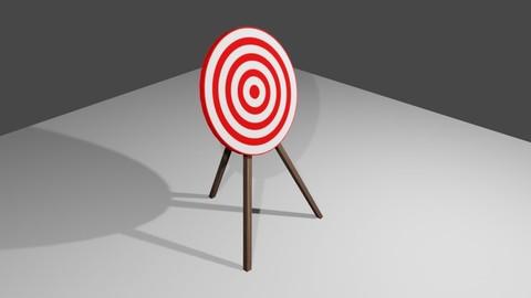Arrow Target - Alvo para arco e flecha Low-poly 3D model