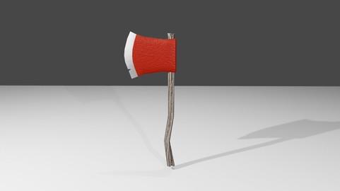 Axe Red - Machado Vermelho Low-poly 3D model