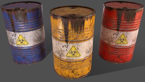 PBR Oil Drum Barrel A9 - Biohazard Toxic waste