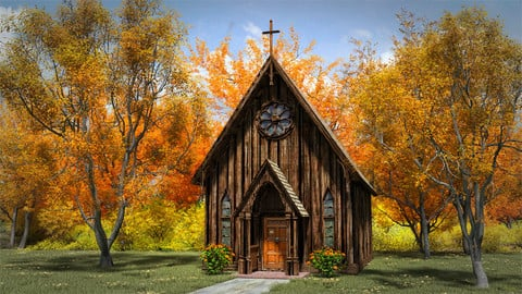 Little Brown Country Church