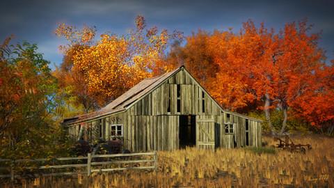 Deserted Autumn Barn