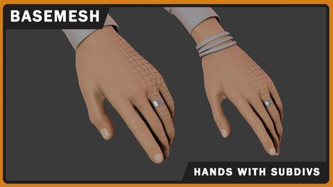 Stylized Male & Female Hands Basemeshes