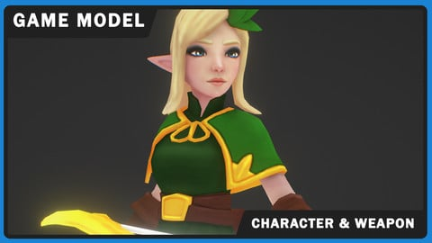 Elf Archer - Mobile Game Model