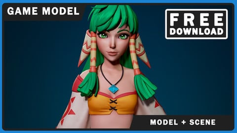 Feena - Model & Toolbag Scene