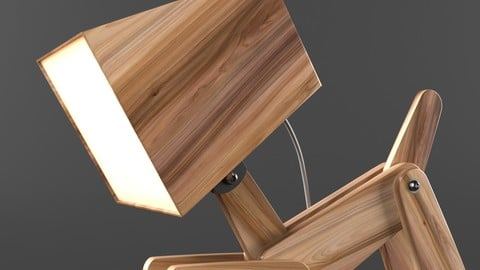 Dogi Adjustable Wooden Table Lamp