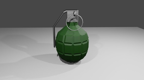 Grenade - Hand - Bomb - Granada - Explosive Low-poly 3D model