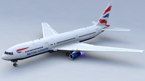 British Airways 767 3D Model