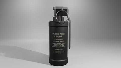 Flash Grenade - Flare Explosive - Granada Low-poly 3D model