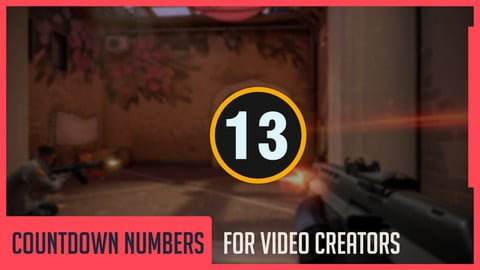 20 Pieces Countdown Numbers for Video Creators