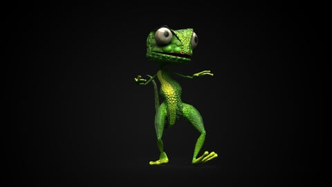 3D Lizard Game Character RIGGED
