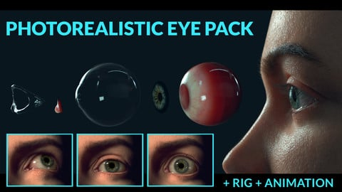 PHOTOREALISTIC EYE PACK + RIG + ANIMATION
