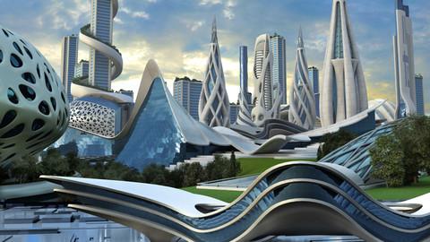 Futuristic City 2. - Illustration Pack