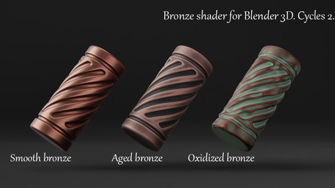 Bronze Shader For Blender 3d. Cycles 2.82