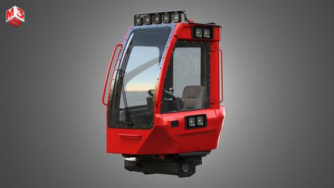 Komatsu Forestry Machine - Driving Room 3D model