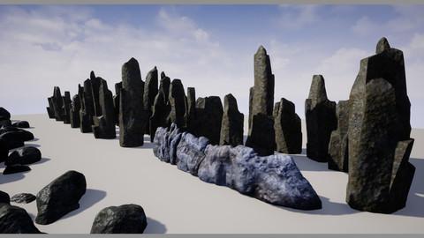 Realistic Rocks, Cliffs, Rock Groups