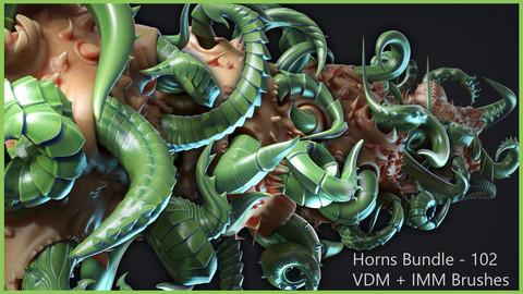 Zbrush - Horns Bundle - 102 VDM + IMM Brushes