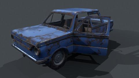 ZAZ-968M (Rust)  (Low poly/game-ready, optimized)