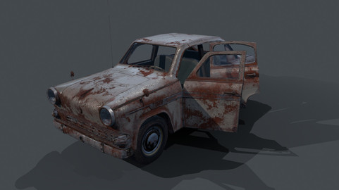 Moskvich-403 (Rust) ( Low poly, optimized )