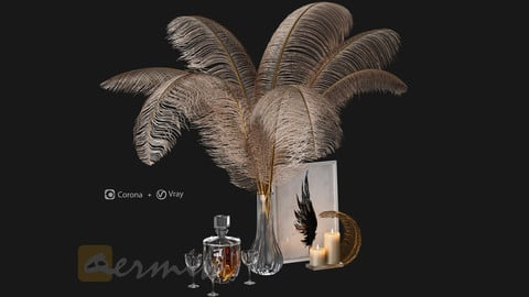 Decorative set Feathers