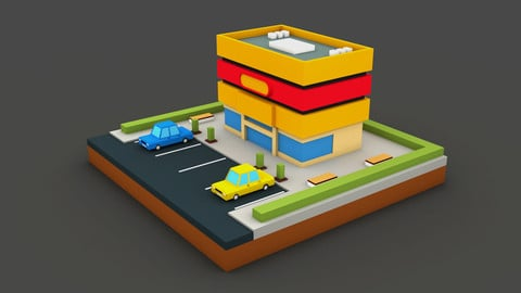 Cinema mall -Low Poly